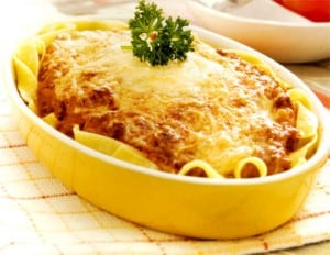 Baked Fettuccine with Beef