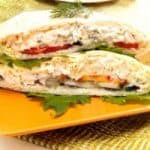 Pita Bread Salmon Sandwich